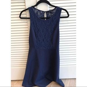 Forever 21 navy lace dress